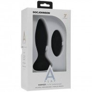 Doc Johnson A-Play Experienced Rimmer Silicone Anal Plug with Remote Black