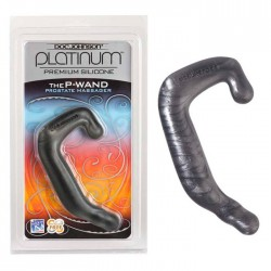 Doc Johnson Platinum Silicone The P-Wand Charcoal