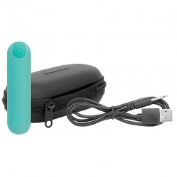 """BMS Factory Power Bullet Essential 3.5"""" Rechargeable Bullet Teal"""