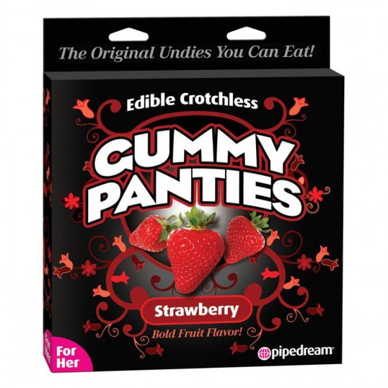 Pipedream Products Edible Crotchless Gummy Panties Strawberry