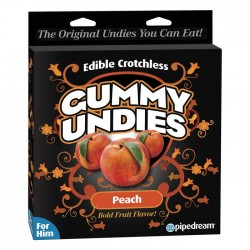 Pipedream Products Edible Crotchless Gummy Undies Peach