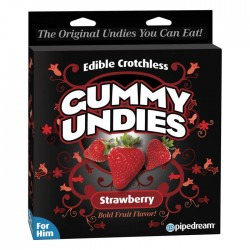Pipedream Products Edible Crotchless Gummy Undies Strawberry