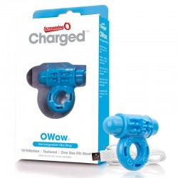 Screaming O Charged OWow Rechargeable Vibe Ring Blue
