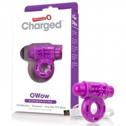 Screaming O Charged OWow Rechargeable Vibe Ring Purple