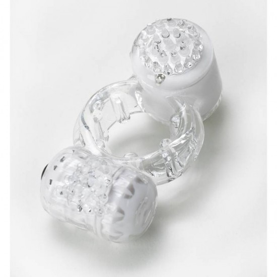 Vibratex The Duet Ring Clear WHILE STOCK LASTS