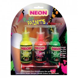 Hott Products Neon Body Play Paints 3 Pack