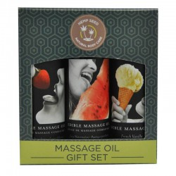 Earthly Body 2 oz Edible Massage Oil Gift Set