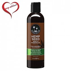 Earthly Body 8 oz. Hemp Seed Massage Oil Naked in the Woods