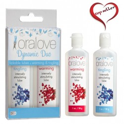 Doc Johnson Oralove Delicious Duo Warming & Tingling
