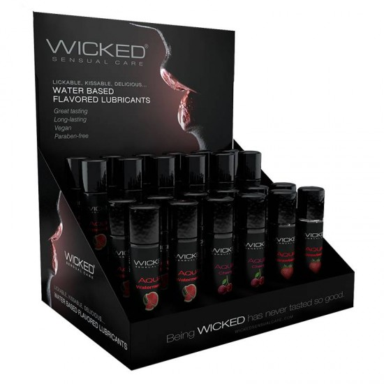 Wicked Sensual Care 1 oz Classic Flavors P.O.P. 8 Each Flavor