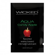 Wicked Sensual Care 3 ml Flavored Lube Sample Pack Candy Apple