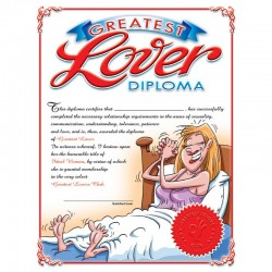 Ozze Creations Greatest Lover Diploma For Her