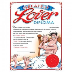 Ozze Creations Greatest Lover Diploma For Him