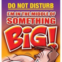 Ozze Creations Door Hanger I'm in the Middle of Something BIG! WHILE STOCK LASTS